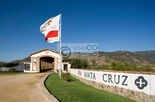 ENTRANCE SIGN SANTA CRUZ WINERY COLCHAGUA VALLEY CHILE