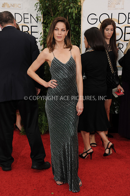 WWW.ACEPIXS.COM<br /> <br /> January 11 2015, LA<br /> <br /> Michelle Monaghan arriving at the 72nd Annual Golden Globe Awards at The Beverly Hilton Hotel on January 11, 2015 in Beverly Hills, California<br /> <br /> By Line: Peter West/ACE Pictures<br /> <br /> <br /> ACE Pictures, Inc.<br /> tel: 646 769 0430<br /> Email: info@acepixs.com<br /> www.acepixs.com