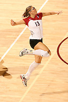 27 October 2005: Action during Stanford's 3-0 win over Oregon at Maples Pavilion in Stanford, CA.<br />