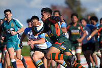 Pakuranga's Obey Samate in action during the Auckland Premier club rugby Alan McEvoy Trophy match between Pakuranga and Grammar TEC at Bell Park in Auckland, New Zealand on Saturday, 9 June 2018. Photo: Dave Lintott / lintottphoto.co.nz