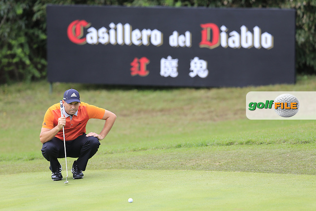 Sergio Garcia (ESP) on the 8th during the final round of the WGC-HSBC Champions, Sheshan International GC, Shanghai, China PR.  30/10/2016<br /> Picture: Golffile | Fran Caffrey<br /> <br /> <br /> All photo usage must carry mandatory copyright credit (&copy; Golffile | Fran Caffrey)