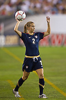 United States (USA) defender Heather Mitts (2). The United States Women's National Team (USA) defeated the Republic of Ireland (IRL) 2-0 during an international friendly at Lincoln Financial Field in Philadelphia, PA, on September 13, 2008.