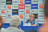 20200824 , GENT , BELGIUM : Gent's manager Dominique Reyns pictured during a players presentation of K.A.A. Gent ladies before the 2020 - 2021 season of Belgian Women's SuperLeague , Monday 24 th of August 2020 in Gent , Belgium . PHOTO SPORTPIX.BE | STIJN AUDOOREN