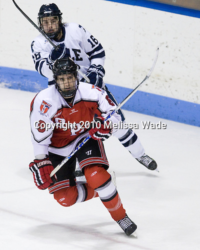 Sean Backman (Yale - 16), Mike Bergin (RPI - 8) - The Rensselaer Polytechnic Institute (RPI) Engineers defeated the Yale University Bulldogs 4-0 on Saturday, January 30, 2010, at Ingalls Rink in New Haven, Connecticut.
