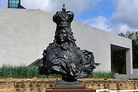 Museum Dräi Eechelen-Fort Thüngen und Mudam-Musée d?Art Moderne Grand-Duc Jean auf dem Kirchberg, Architekt Ieoh Ming Pei, Stadt Luxemburg, Luxemburg
