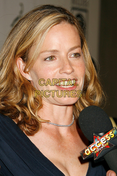 "ELISABETH SHUE.Women's Sports Foundation Presents ""The Billies"" Gala held at the Beverly Hilton, Beverly Hills, California, USA..April 11th, 2007 .headshot portrait interview microphone .CAP/ADM/RE.©Russ Elliot/AdMedia/Capital Pictures"