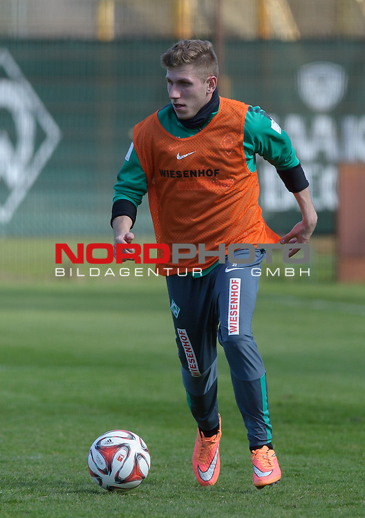 08.04.2015, Trainingsgelaende, Bremen, GER, 1.FBL, Training Werder Bremen, im Bild Levent Aycicek (Bremen #21)<br /> <br /> Foto &copy; nordphoto / Frisch