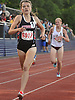 Reilly Siebert of Syosset legs out a victory in the girls' 1,500 meter run during Day Two of the Nassau County individual championships and state qualifiers at Cold Spring Harbor High School on Friday, June 5, 2015.<br />
