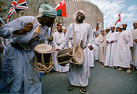 Traditional musicians at cultural performance in Muscat in Oman, Middle East