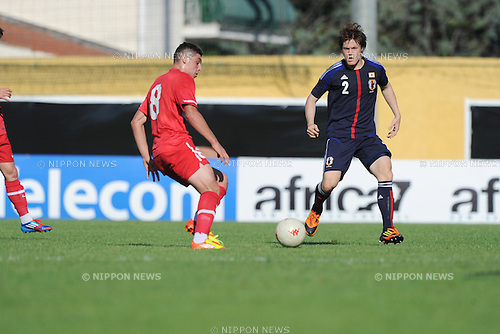 (R-L) Gotoku Sakai (JPN), Salih Dursun (TUR),.MAY 23, 2012 - Football / Soccer :.2012 Toulon Tournament Group A match between U-21 Turkey 2-0 U-23 Japan at Stade Perruc in Hyeres, France. (Photo by FAR EAST PRESS/AFLO)