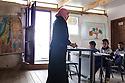 Class in the Khan Ahmar Tire school.