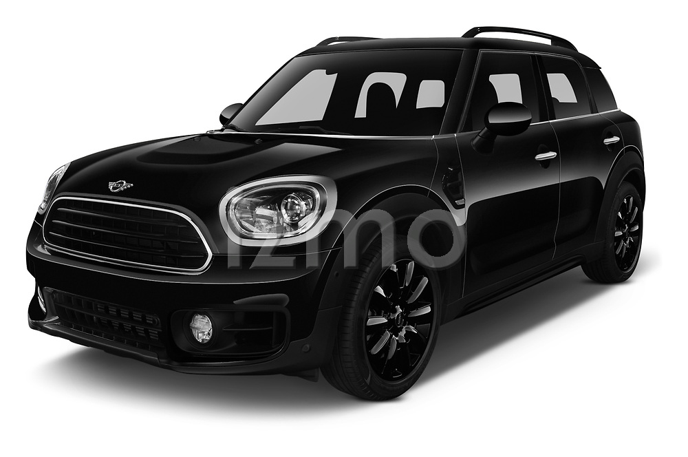 2018 Mini Countryman Oakwood 5 Door Hatchback angular front stock photos of front three quarter view