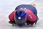 Lizzy Yarnold (GBR). Skeleton training. Alpensia sliding centrePyeongchang2018 winter Olympics. Alpensia. Republic of Korea. 13/02/2018. ~ MANDATORY CREDIT Garry Bowden/SIPPA - NO UNAUTHORISED USE - +44 7837 394578
