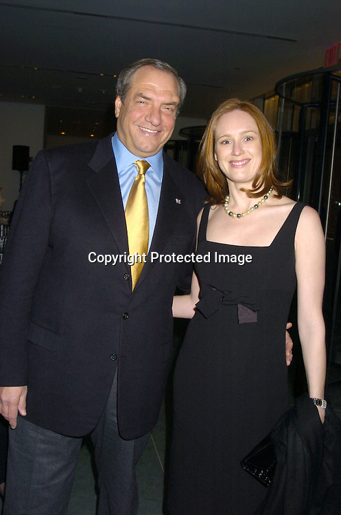 Dick Wolf and Noelle Lippman ..at the NYC and Company dinner honoring leaders in ..Tourism:  including American Express's Ken Chenault, ..NBC Universal's Bob Wright, Nicole Miller and Joseph Spinnato  on December 13, 2004 at the Museum of Modern ..Art. ..Photo by Robin Platzer, Twin Images