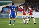 Sheffield United's Matt Done celebrates scoring his sides third goal during the League One match at the Kingsmeadow Stadium, London. Picture date: September 10th, 2016. Pic David Klein/Sportimage