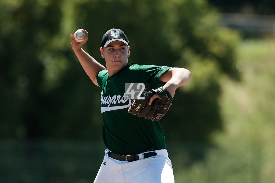 04 July 2010: Bastien Dagneau, Cougars Montigny, little league, championnat Cadets, Ronchin, France.