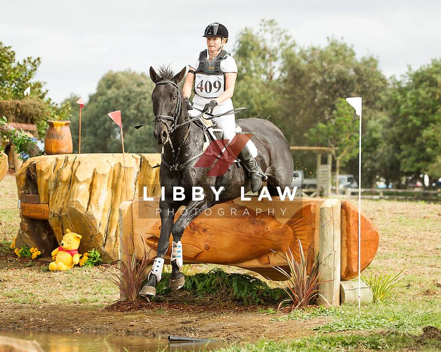 NZL-Rowan Dixon (MAJOR VIBES) CIC1* CROSS COUNTRY: 2014 NZL-BNZ Kihikihi International Horse Trial (Saturday 12 April) CREDIT: Libby Law COPYRIGHT: LIBBY LAW PHOTOGRAPHY - NZL