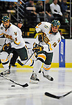 14 November 2008: University of Vermont Catamount forward Viktor Stalberg, a Junior from Gothenburg, Sweden, in action against the Northeastern University Huskies at Gutterson Fieldhouse in Burlington, Vermont. The Catamounts fell to the Huskies 5-3...Mandatory Photo Credit: Ed Wolfstein Photo