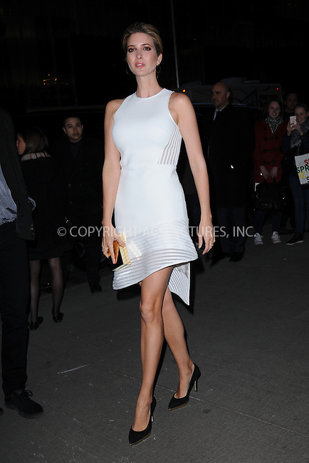 WWW.ACEPIXS.COM<br /> March 30, 2015 New York City<br /> <br /> Ivanka Trump attending Woman in Gold Screening at the MoMa on March 30, 2015 in New York City. <br /> <br /> By Line: Kristin Callahan/ACE Pictures<br /> ACE Pictures, Inc.<br /> tel: 646 769 0430<br /> Email: info@acepixs.com<br /> www.acepixs.com