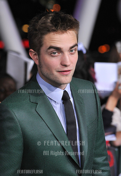 "Robert Pattinson at the world premiere of his movie ""The Twilight Saga: Breaking Dawn - Part 2"" at the Nokia Theatre LA Live..November 12, 2012  Los Angeles, CA.Picture: Paul Smith / Featureflash"