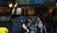 Referee Neil Swarbrick gives thumbs up during the Sky Bet League 2 match between Wycombe Wanderers and Oxford United at Adams Park, High Wycombe, England on 19 December 2015. Photo by Andy Rowland.