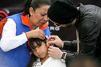 """México, D.F.- 16dic2013 – Almacenes Liverpool <br /> Yandel y Bomberg, se unen para lanzar la campaña """"Tiempo de Escuchar"""" una iniciativa sin fines de lucro, dedicada a la lucha contra la perdida de audición en niños, proporcionándoles audífonos a cientos de niños a partir de esta Navidad. La iniciativa continuará durante todo 2014 e incluirá un concierto exclusivo de Yandel para los niños.<br /> Photo: Francisco Morales/DAMMPHOTO"""