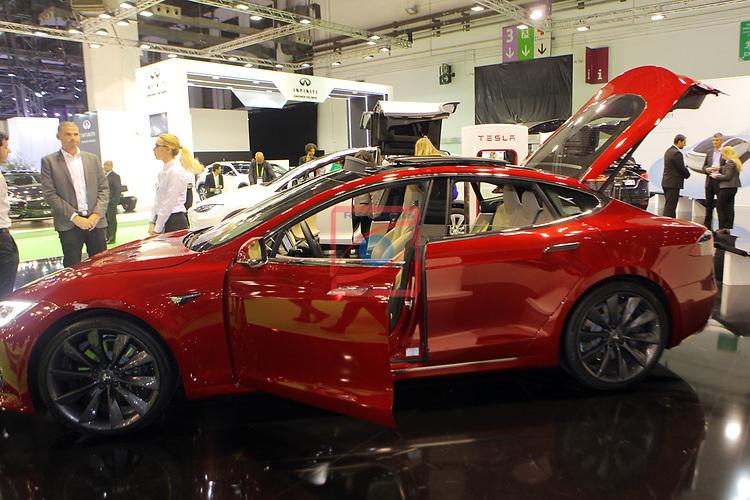 Automobile Barcelona 2017.<br /> Stand Tesla.