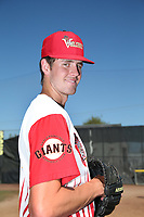 Jason Bahr (29) of the Salem-Keizer Volcanoes poses for a photo before a game against the Vancouver Canadians at Volcanoes Stadium on July 24, 2017 in Keizer, Oregon. Salem-Keizer defeated Vancouver, 4-3. (Larry Goren/Four Seam Images)