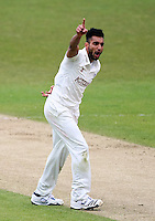 PICTURE BY VAUGHN RIDLEY/SWPIX.COM - Cricket - County Championship Div 2 - Yorkshire v Essex, Day 3 - Headingley, Leeds, England - 21/04/12 - Yorkshire's Ajmal Shahzad appeals.