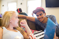 Grace Hancock '16 and Myell Mergaert '15 (Photo by Aseem Mangaokar '15, photography assistant)