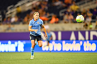 Orlando, FL - Saturday September 10, 2016: Christie Rampone during a regular season National Women's Soccer League (NWSL) match between the Orlando Pride and Sky Blue FC at Camping World Stadium.
