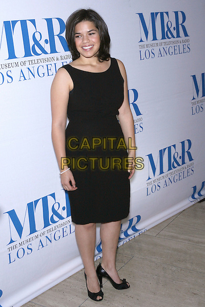 AMERICA FERRERA.Launch party for the second year of MTR?s She Made It: Women Creating Television and Radio - Arrivals held at the Museum of Television & Radio, Beverly Hills, California, USA..December 5th, 2006.full length black dress .CAP/ADM/ZL.©Zach Lipp/AdMedia/Capital Pictures