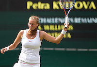 Petra Kvitova (CZE) against Serena Williams (USA) (1) in the semi-finals of the ladies singles. Serena Williams beat Petra Kvitova 7-6 6-2    ..Tennis - Wimbledon Lawn Tennis Championships - Day 10 Thur 1st Jul 2010 -  All England Lawn Tennis and Croquet Club - Wimbledon - London - England..© FREY - AMN IMAGES  Level 1, Barry House, 20-22 Worple Road, London, SW19 4DH.TEL - +44 (0) 20 8947 0100.Email - mfrey@advantagemedianet.com.www.advantagemedianet.com