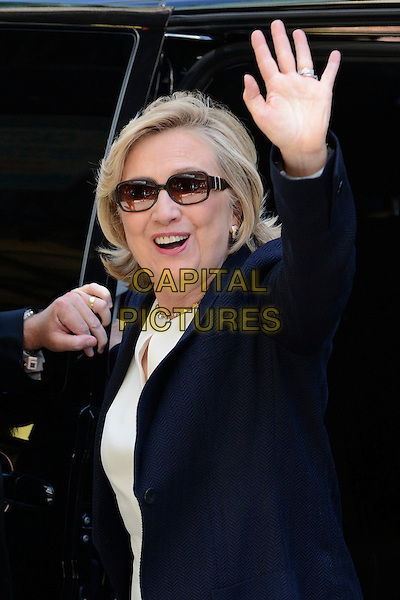 LONDON, ENGLAND - JULY 3; Hillary Clinton arriving at BBC Radio 2, London, England 3rd July 2014<br /> CAP/IA<br /> &copy;Ian Allis/Capital Pictures