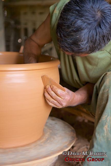 Man Making Pottery
