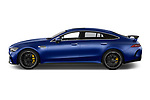 Car driver side profile view of a 2019 Mercedes Benz AMG-GT 63-S 5 Door Hatchback