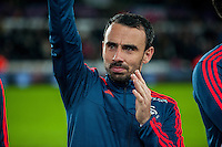 Leon Britton of Swansea waves to fans during the Barclays Premier League match between Swansea City and Sunderland played at the Liberty Stadium, Swansea  on  January the 13th 2016