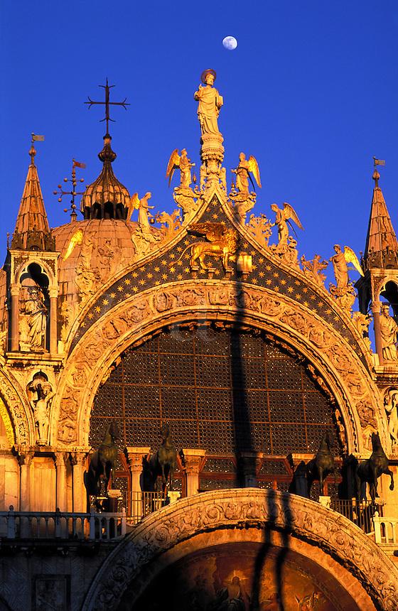 Italy, Venice, Basilica San Marco detail of facade
