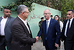 Palestinian Prime Minister, Rami Hamdallah, attends a charity breakfast to the families of martyrs and prisoners, in the West Bank city of Tulkarem on May 25, 2018. Photo by Prime Minister Office