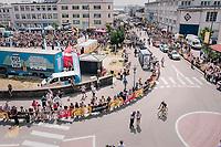 start town ambiance<br /> <br /> Stage 6: Brest > Mûr de Bretagne / Guerlédan (181km)<br /> <br /> 105th Tour de France 2018<br /> ©kramon