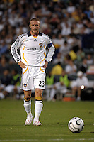 Los Angeles Galaxy midfielder (23) David Beckham readies for a free kick during the first half against D.C. United at the Home Depot Center in Carson, CA on Wednesday, August 15, 2007. Beckham would score on the free kick and the Los Angeles Galaxy defeated D. C. United 2-0 in a SuperLiga semifinal match.