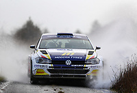 2nd February 2020; Galway, Galway, Ireland; Irish Tarmac Rally Championship, Galway International Rally;   Alastair Fisher and Gordon Noble (Volkswagen Polo GTI R5) take the win on the 2020 Galway International Rally and revelled in the wet conditions