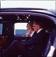 Man & Woman executive in limousine<br />