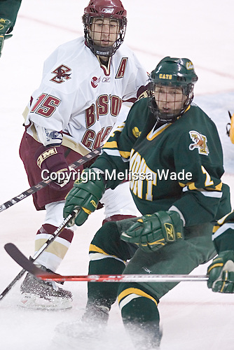 Stephen Gionta, Slavomir Tomko - The Boston College Eagles completed a shutout sweep of the University of Vermont Catamounts on Saturday, January 21, 2006 by defeating Vermont 3-0 at Conte Forum in Chestnut Hill, MA.