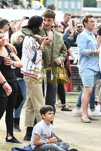 LONDON, ENGLAND - JULY 6: Dua Lipa and Anwar Hadid watching Lionel Richie at British Summertime, Hyde Park on July 6, 2019 in London, England.<br /> CAP/MAR<br /> ©MAR/Capital Pictures