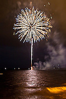 Fireworks, Fourth of July - Independence Day, Kailua Bay, Kailua Kona, Big Island.