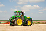 2004 John Deere 8320 tractor in bare field , Sheridan Co., Kansas