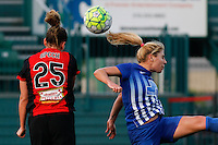 Rochester, NY - Friday May 27, 2016: Western New York Flash forward Meredith Speck (25), Boston Breakers midfielder McCall Zerboni (77). The Western New York Flash defeated the Boston Breakers 4-0 during a regular season National Women's Soccer League (NWSL) match at Rochester Rhinos Stadium.