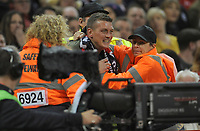 A fan is restrained after attempting to get onto the pitch <br /> <br /> Photographer Ian Cook/CameraSport<br /> <br /> Under Armour Series Autumn Internationals - Wales v Scotland - Saturday 3rd November 2018 - Principality Stadium - Cardiff<br /> <br /> World Copyright &copy; 2018 CameraSport. All rights reserved. 43 Linden Ave. Countesthorpe. Leicester. England. LE8 5PG - Tel: +44 (0) 116 277 4147 - admin@camerasport.com - www.camerasport.com