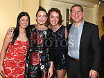 Martha Devlin, Sarah Gardiner, Will Smith and Margo Brady pictured at the Team Carrie end of season dinner in the Grove Hotel Dunleer. Photo:Colin Bell/pressphotos.ie